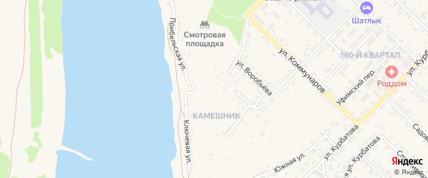 Верхняя улица на карте Бирска с номерами домов