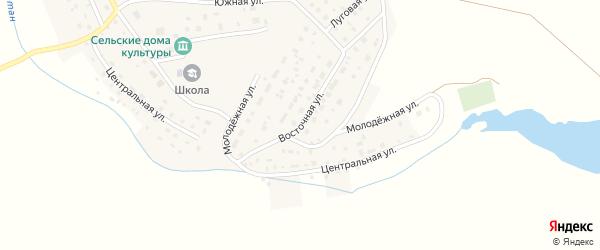 Восточная улица на карте деревни Чуртана с номерами домов