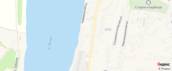 Речной переулок на карте Бирска с номерами домов