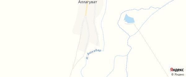 Карта деревни Верхнего Аллагувата в Башкортостане с улицами и номерами домов