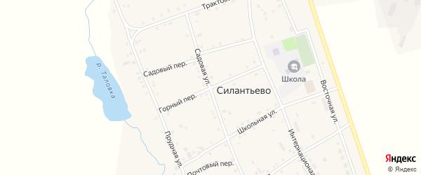 Горный переулок на карте села Силантьево с номерами домов