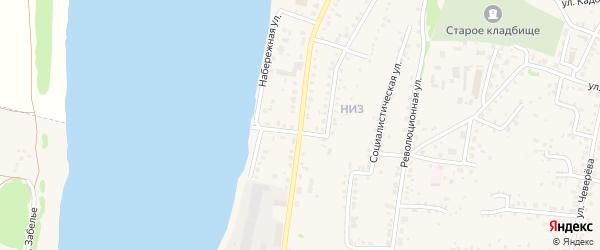 Улица Цюрупы на карте Бирска с номерами домов