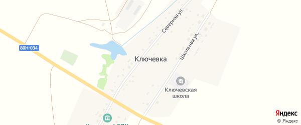 Школьная улица на карте деревни Ключевки с номерами домов
