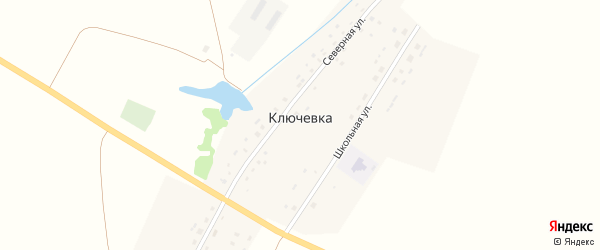Северная улица на карте деревни Ключевки с номерами домов