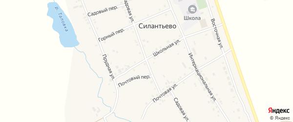 Садовая улица на карте села Силантьево с номерами домов