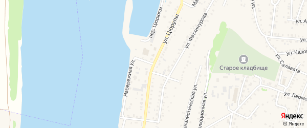 Набережная улица на карте Бирска с номерами домов