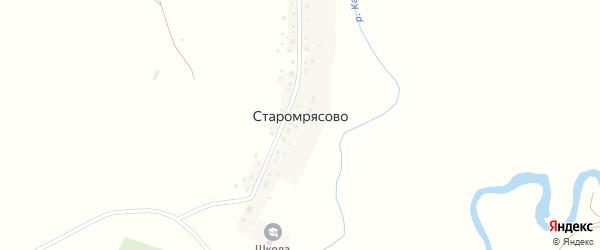 Центральная улица на карте села Старомрясово с номерами домов
