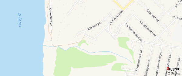 Переулок Курбатова на карте Бирска с номерами домов