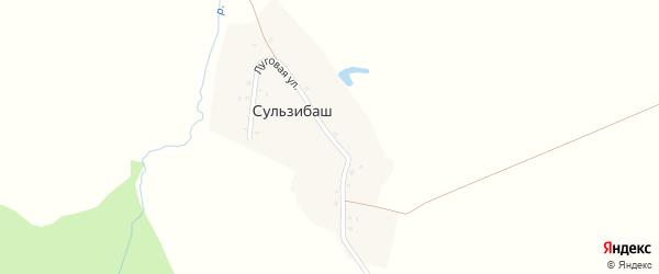 Луговая улица на карте деревни Сульзибаша с номерами домов