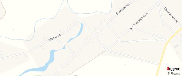 Дорожная улица на карте деревни Среднеакбашево с номерами домов