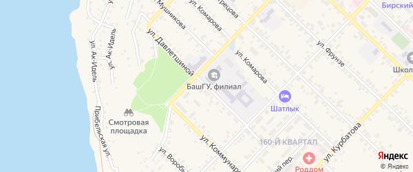 Улица Давлетшиной на карте Бирска с номерами домов