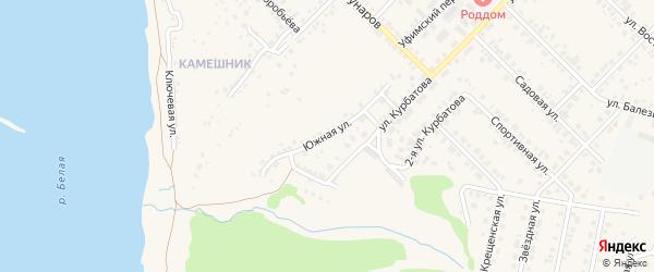 Южная улица на карте Бирска с номерами домов