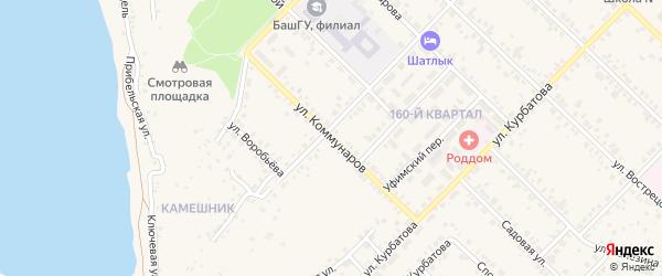 Улица Коммунаров на карте Бирска с номерами домов