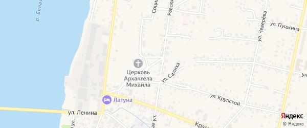 Площадь Чапаева на карте Бирска с номерами домов