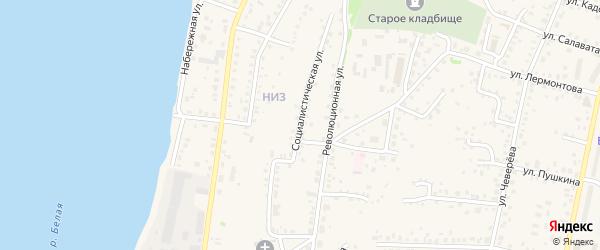 Социалистическая улица на карте Бирска с номерами домов