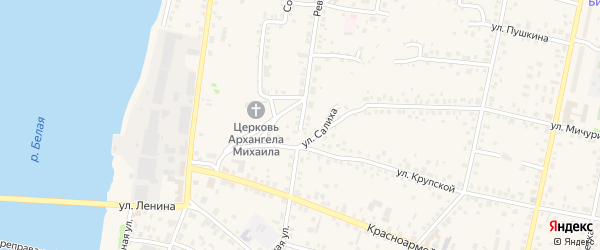 Революционная улица на карте Бирска с номерами домов