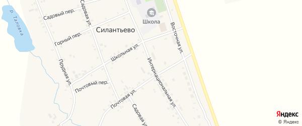 Интернациональная улица на карте села Силантьево с номерами домов