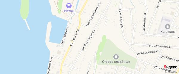 Улица Фатхинурова на карте Бирска с номерами домов