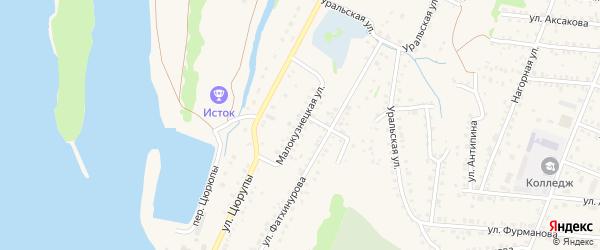 Малокузнецкая улица на карте Бирска с номерами домов
