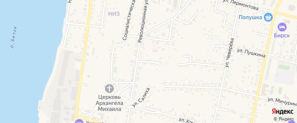 Революционный переулок на карте Бирска с номерами домов