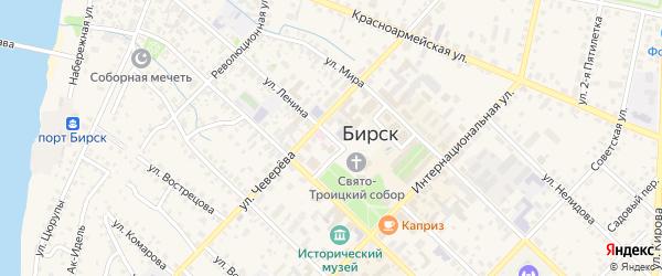 Улица Ленина на карте Бирска с номерами домов