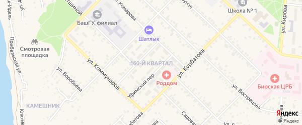 160-й микрорайон на карте Бирска с номерами домов