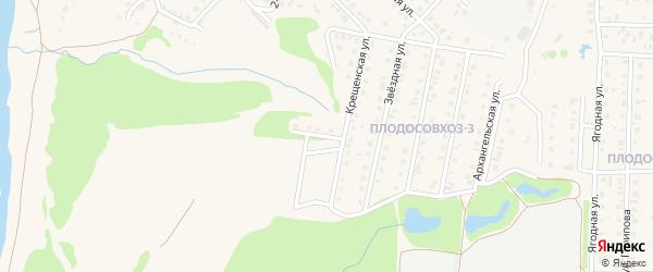 Крещенская улица на карте Бирска с номерами домов