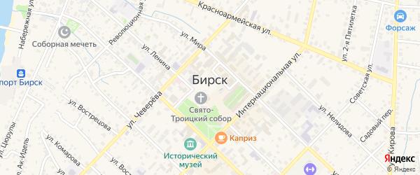 Сад Ягодка на карте Бирска с номерами домов