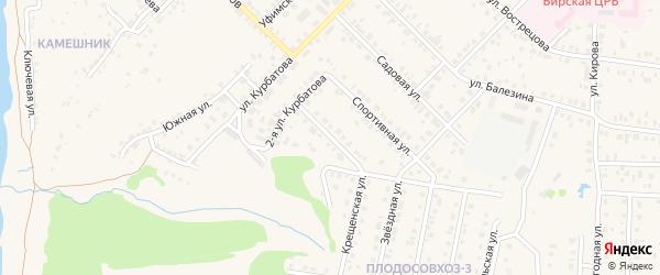 Тополиная 2-я улица на карте Бирска с номерами домов