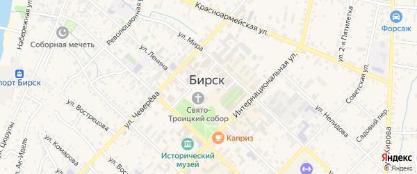 Октябрьская площадь на карте Бирска с номерами домов