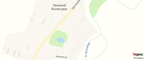 Ашкадарская улица на карте деревни Нижнего Аллагувата с номерами домов