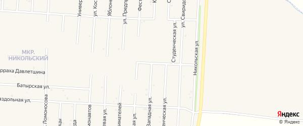 Юго-западная улица на карте Бирска с номерами домов