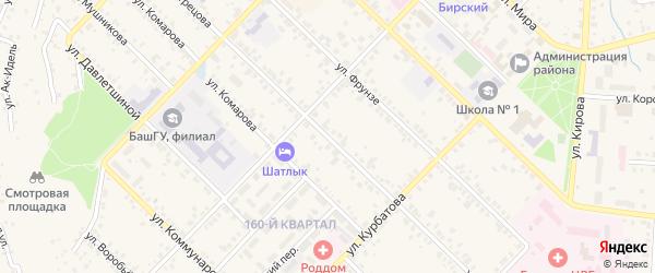 Улица Вострецова на карте Бирска с номерами домов