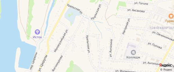 Уральская улица на карте Бирска с номерами домов