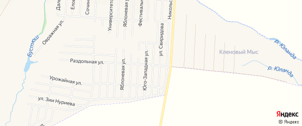 Карта села Старицино в Башкортостане с улицами и номерами домов