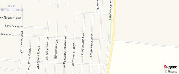 Строительная улица на карте села Старицино с номерами домов
