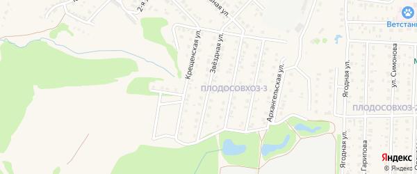 Звездная улица на карте Бирска с номерами домов