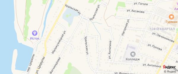 Уральский переулок на карте Бирска с номерами домов