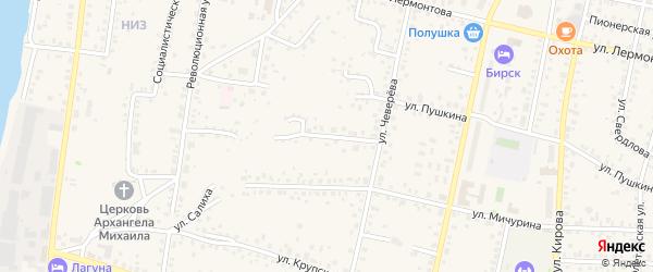 Комсомольская улица на карте Бирска с номерами домов