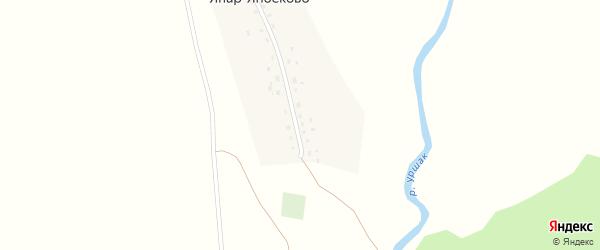 Центральная улица на карте деревни Япар-Янбеково с номерами домов
