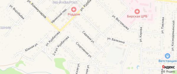 Садовая улица на карте села Старицино с номерами домов