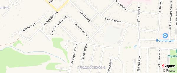 Спортивная улица на карте Бирска с номерами домов