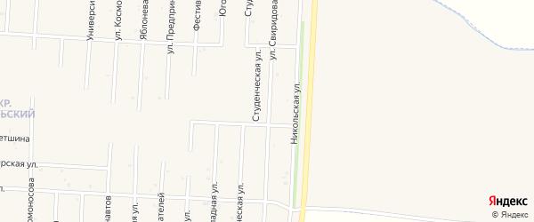 Улица Свиридова на карте Бирска с номерами домов