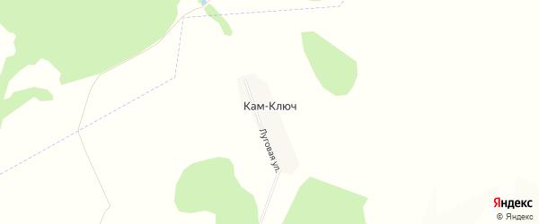 Карта деревни Кама-Ключа в Башкортостане с улицами и номерами домов