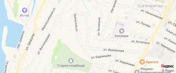 Малогончарная улица на карте Бирска с номерами домов