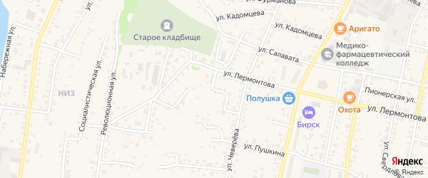 Первомайский переулок на карте Бирска с номерами домов