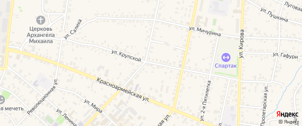 Улица Крупской на карте Бирска с номерами домов
