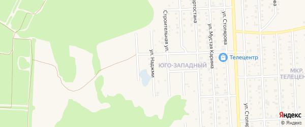Улица Наджми на карте Бирска с номерами домов