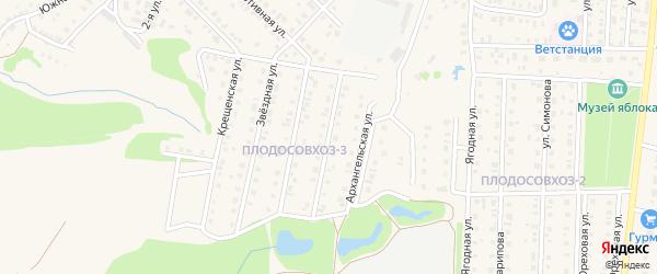 Архангельская улица на карте Бирска с номерами домов