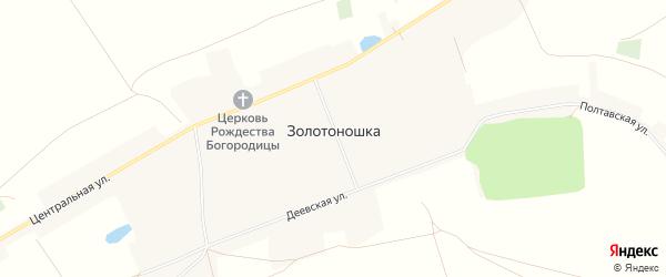 Карта деревни Золотоношки в Башкортостане с улицами и номерами домов